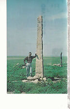 Limestone Posts With A Pioneer Personality   Central Kansas   Postcard 81616