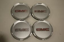2009-2014 GMC Terrain  OEM Center Caps P/N 9597973 silver with red letters SET-4