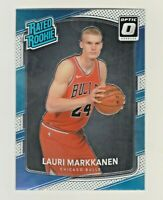2017-18 Optic RATED ROOKIE #159 LAURI MARKKANEN RC Chicago Bulls QTY AVAILABLE