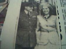 newspaper picture - flt lt e h brookes marries gertrude pincus hill leicester 19