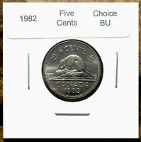 Canada 1982 Five Cents UNC Choice BU!!