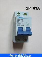 2P 63A 400V~ 50HZ/60HZ Circuit breaker AC MCB safety breaker C type