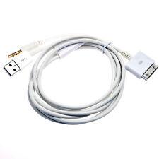 Câble adaptateur connecteur dock vers aux mini-jack 3.5mm + usb pour iPad iPhone iPod