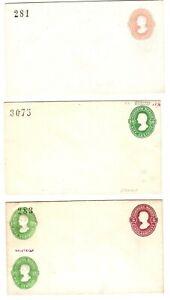 Mexico 19c postal stationery envelopes (6), all embossed