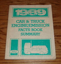 1989 Ford Car & Truck Engine / Emission Facts Book Summary 89
