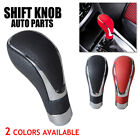 Universal Leather Manual Auto Car Gear Stick Shift Knob Shifter Lever Cover Am