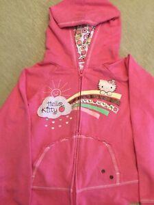Hello Kitty Girl's Cute Pink Jacket Size Medium