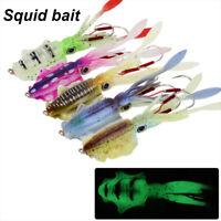 Fishing Soft Lure 20g/60g 150mm Luminous/UV Squid Jig Fishing Lures Octopus