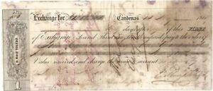1866 D. Ruiz Toledo Check