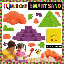 AUTHENTIC IQ BUILDER Creative & Fun MOLDABLE Synthetic Beach Sand KIT for KIDS!