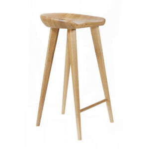 """NEW! CARVED WOOD BARSTOOL -30"""" CONTEMPORARY BAR/COUNTER TRACTOR STOOL-SET OF 2 N"""