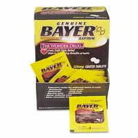 25x Packs - Bayer 325mg Aspirin - 2 Coated Tablets Pack - Pain Relief Fever Stop