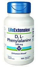 D,L-Phenylalanine - Life Extension - 500 mg - 100 Vegetarian Capsules