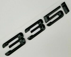 BLACK 335I FIT 335I REAR TRUNK NAMEPLATE BADGE EMBLEM NUMBERS LETTERS DECAL NAME