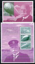 MALEDIVEN MALDIVE 2000 Zeppelin Luftschiffe 3475-3477 + Block 455 ** MNH