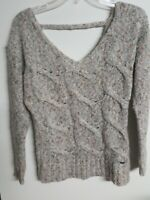 GUESS LOS ANGELES  SOFT ACRYLIC V-NECK OPEN  KNIT SWEATER SZ S
