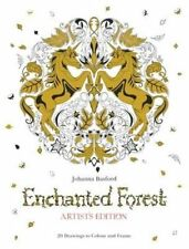 Enchanted Forest Artist's Edition: A Pull-Out and Frame Colouring Book by...