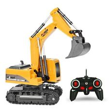 Children RC Engineering Car 2.4GHZ 6 Channel 1:24 Excavator Alloy Plastic Toy