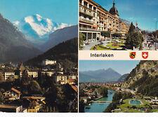 Interlaken Various Views Switzerland Postcard used VGC
