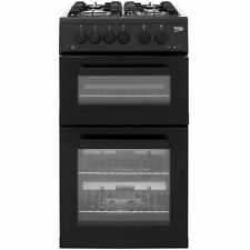 Beko KDG582K Free Standing Gas Cooker with Gas Hob 50cm Black New