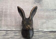 Metal Iron Smooth  Bronze Hare Rabbit Drawer Knobs Draw Cupboard Free Post +1