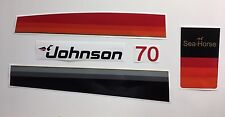 Johnson Outboard Hood Decals 1978 era 70 hp