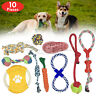 ROPE TOYS BEST DOG PET TOYS DURABLE DOG CHEW UK STOCK SETS 10 PIECES