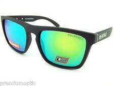 Perro sucio Polarizado Monza Wrap gafas de sol de Satén Negro / Verde Espejo 53406