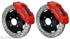 "WILWOOD DISC BRAKE KIT FRONT FITS HONDA ACURA12"" DRILLED ROTORS 6 PISTON CALIPER"