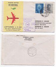 1963 INDIA First Flight Cover NEW DELHI to FRANKFURT, GERMANY Lufthansa LH649