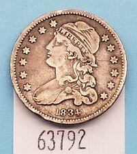 West Point Coins ~ 1834 Cap Bust Quarter