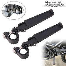 "Motorcycle Black 1""~1-1/4"" Highway Engine Crash Bar Foot Pegs Pedals w/ U-clamp(Fits: Mastiff)"