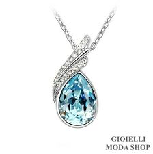 Collana Donna Ciondolo Goccia con Crystal Swarovski Elements - G152