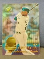 KEN GRIFFEY JR. SEATTLE MARINERS HOF 1996 STADIUM CLUB BEST PERFORMANCES INSERT