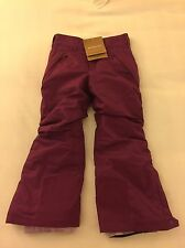 NWT Patagonia Girls Insulated Snow Belle Pants XS 5-6 Violet Red H2NO Breathable