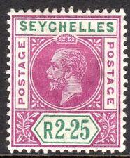 Seychelles 1912 magenta/green 2r.25c multi-crown CA mint SG81
