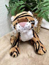 "Ganz Webkinz Brown Striped Bengal Tiger 8"" Plush Stuffed Animal Toy No Code EXC"