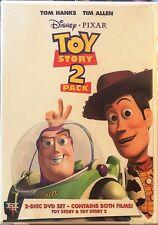 Disney Pixar TOY STORY 1 & 2 Two-Pack Both Films on DVD Set Tom Hanks Tim Allen