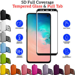 5D TEMPERED GLASS & PULL TAB transparent screen protection for Samsung S10E