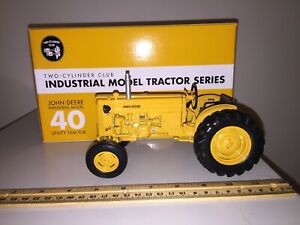 Ertl John Deere 40 Utility Industrial 2010 Two-Cylinder Expo 1/16 Scale 16189A