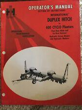 IH INTernational 400 CYCLO PLANTER Operators Manual 1083812r1 1972