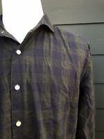 Bonobos Slim Fit Gray Purple Check 100% Cotton Men's Shirt Size Large