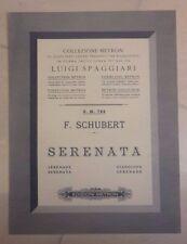 SPARTITO MUSICALE SPAGGIARI F. SHUBERT SERENATA METRON  PRIMI '900