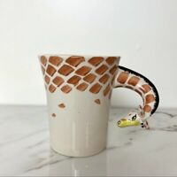 PIER ONE 1 Imports Large Hand Painted Giraffe Head 3D Neck Coffee Mug Tea Cup