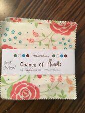 "Bundle of 3 Pks. Moda ""Chance of Flowers"" 5"" Squares"