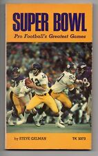 Super Bowl 1975 Paperback Book NFL Terry Bradshaw Bart Starr Johnny Unitas