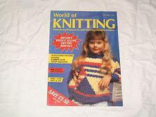 KNITTING MACHINE MAGAZINE  WORLD OF KNITTING JULY 1986