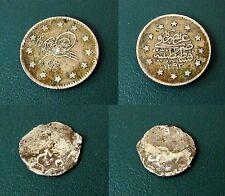 OTTOMAN EMPIRE TURKEY SILVER TWO COINS ABDUL HAMID II AND MURAD IV # 947