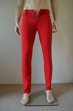 Nueva Abercrombie & fitch Skinny Jeans Vintage Rojo 30 X 32 RRP £ 78