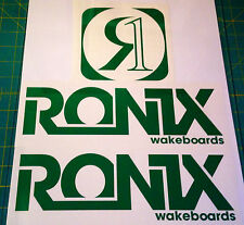 2011 RONIX GREEN LOGO STICKER You Get 2 WAKEBOARD DECAL